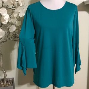 CHICO'S RUFLE SLEEVES BLOUSE
